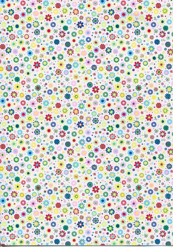Бумага с рисунком А4 Heyda Мелкие цветы 21x29.7см 300г/м2 4823064988536