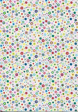 Бумага с рисунком А4 Heyda Мелкие цветы 21x29.7см 300г/м2 4823064988536, фото 2