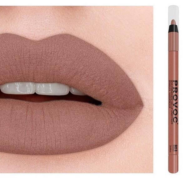 Полуперманентный гелевый карандаш для губ №803 (кофейно-бежевый нюд) PROVOC Gel Lip Liner Zealess