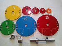 Блины для штанги / диски: 2.5, 5, 10, 15, 20, 25 кг