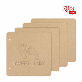 Заготовка Rosa для альбома Sweet baby 20x20.5см 4 страниц 4820149899428
