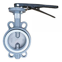 Затвор поворотний чавунний з нержавіючим диском Р-203 Ду 350 з редуктором