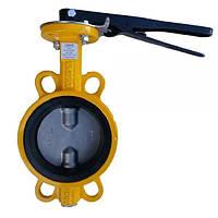 Затвор поворотний чавунний з нержавіючим диском Р-204 (AISI 304) Ду 100