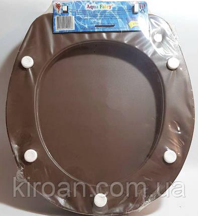 Мягкое сиденье для унитаза Aqua Fairy (сиденье коричневое) , фото 2
