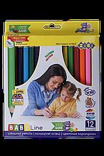 Карандаши цветные 12цв JUMBO ZiBi с точилкой