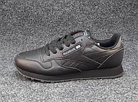 Кроссовки мужские Reebok Classic Leather черные (рибок)(р.46)