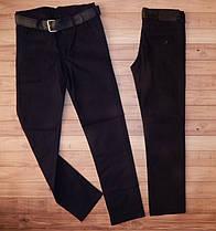 Детские коттоновые штаны для мальчика Мен черние. Турция.12/13 лет.