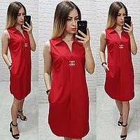 Платье без рукава арт. 167 красное / красного цвета, фото 1