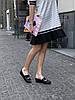 Сабо женские кожаные с лазерной обработкой Agnello чёрные