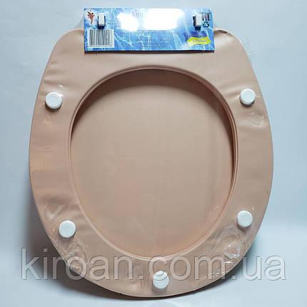 Мягкое сиденье для унитаза Aqua Fairy (сиденье бежевое) ромашки, фото 2