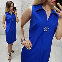 Платье без рукава арт. 167 синий яркий / цвет электрик, фото 1
