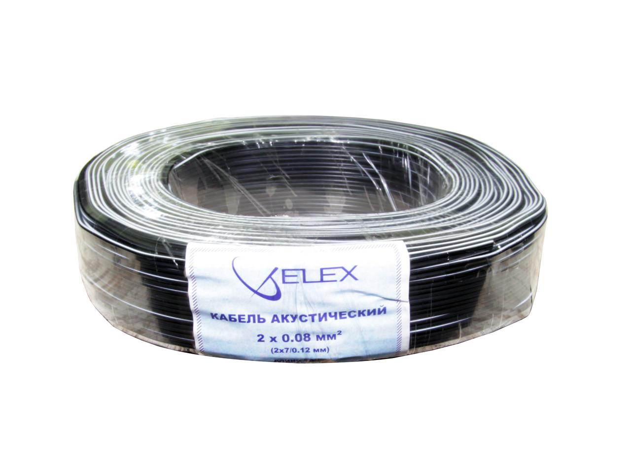ELEX черн/бел полоса 2х7/0,12мм (2х0,08мм2) - медь