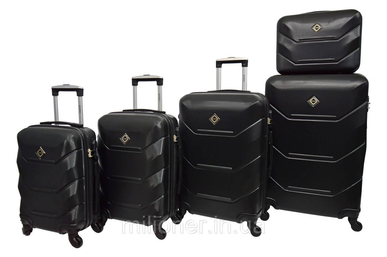 Чемодан Bonro 2019 набор 5 штук черный
