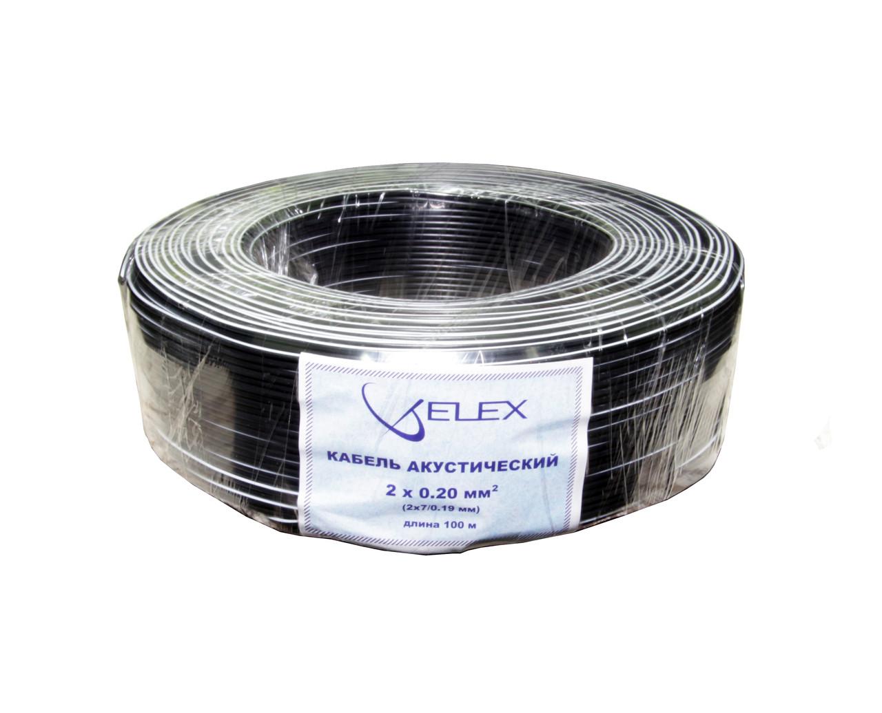 ELEX черн/бел полоса 2х7/0,19мм (2х0,2мм2) - медь