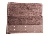 Махровое полотенце Saheser 30-50 см темно лососевого цвета