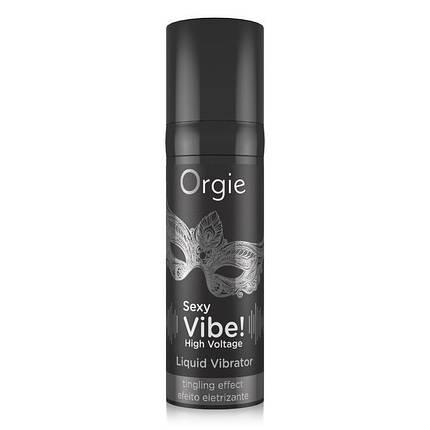 Жидкий вибратор с согревающим эффектом SEXY VIBE Orgie, 15 мл , фото 2