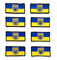 Шеврон флаг Украины на липучке, ПВХ нашивки под заказ.