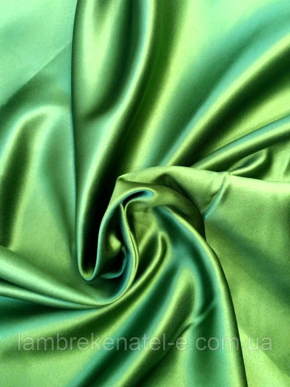 Ткань для штор блэкаут цвет зеленый
