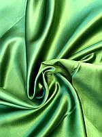 Ткань блэкаут зеленый для штор, светонепроницаемый, двухсторонний
