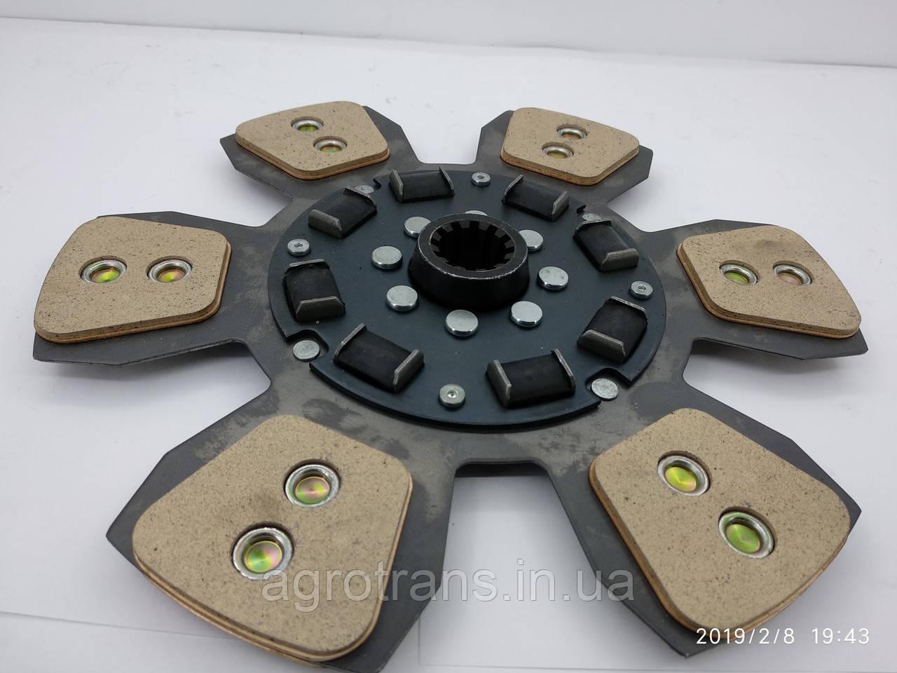 Диск сцепления МТЗ-80-1523  80-1601130 - 6 лепестков, керамика. Диск зчеплення МТЗ 80 керамічний