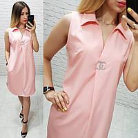 Платье без рукава арт. 167 пудра / пудровое / персиковое