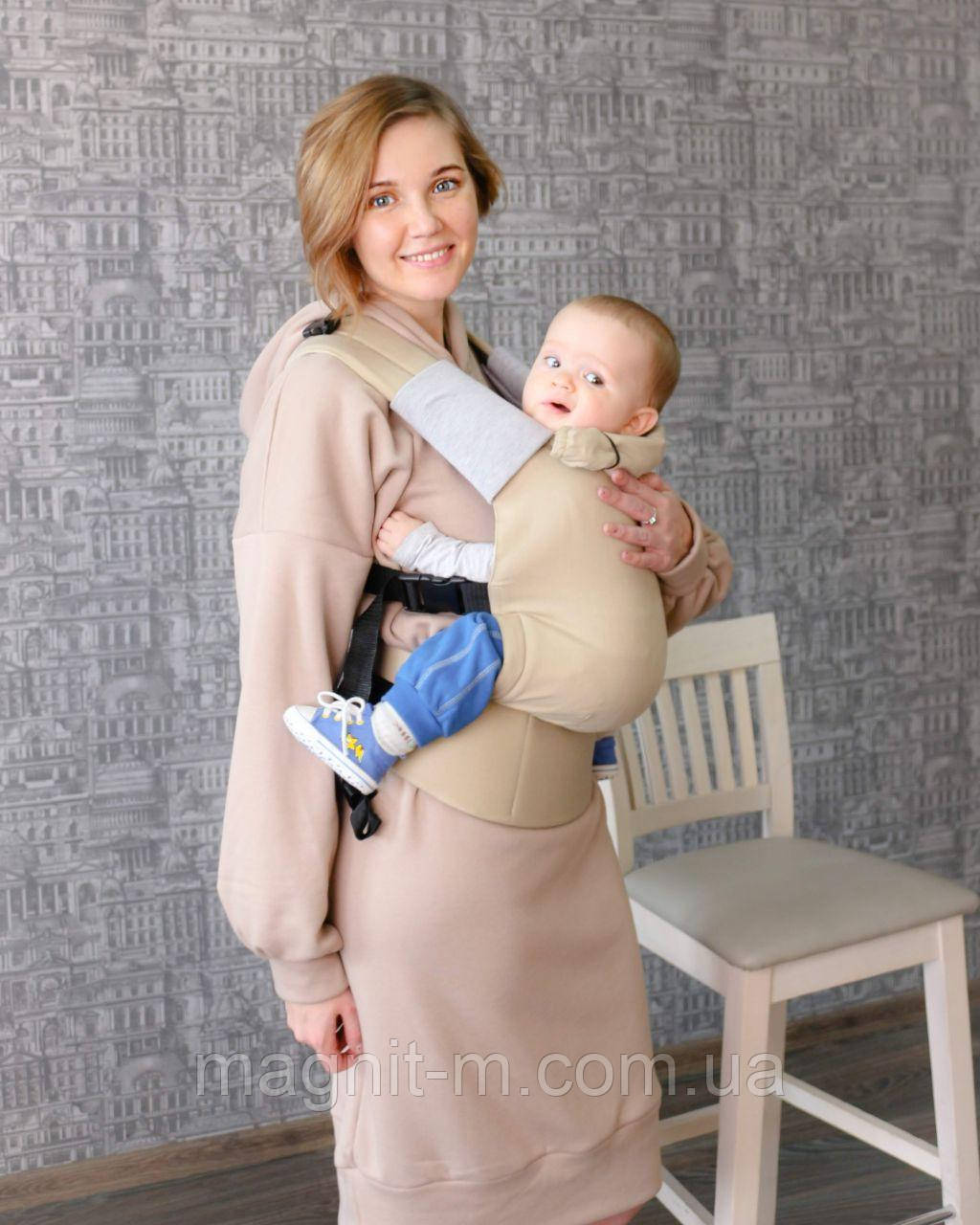 """Эрго-рюкзак """"ForKids"""" Жемчуг, летний хлопок, для детей от 10-11 кг, второй размер"""