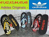 Вьетнамки, шлепки (шлепанцы) Adidas (Адидас). Мужские сланцы.