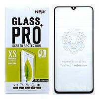 Защитное стекло Full Glue для Samsung Galaxy A70 2019 A705 клей по всей поверхности (Black)