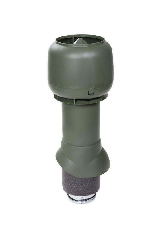 Вентиляционный выход VILPE® 125/ИЗ/500 изолированный. Цвет: Зелёный