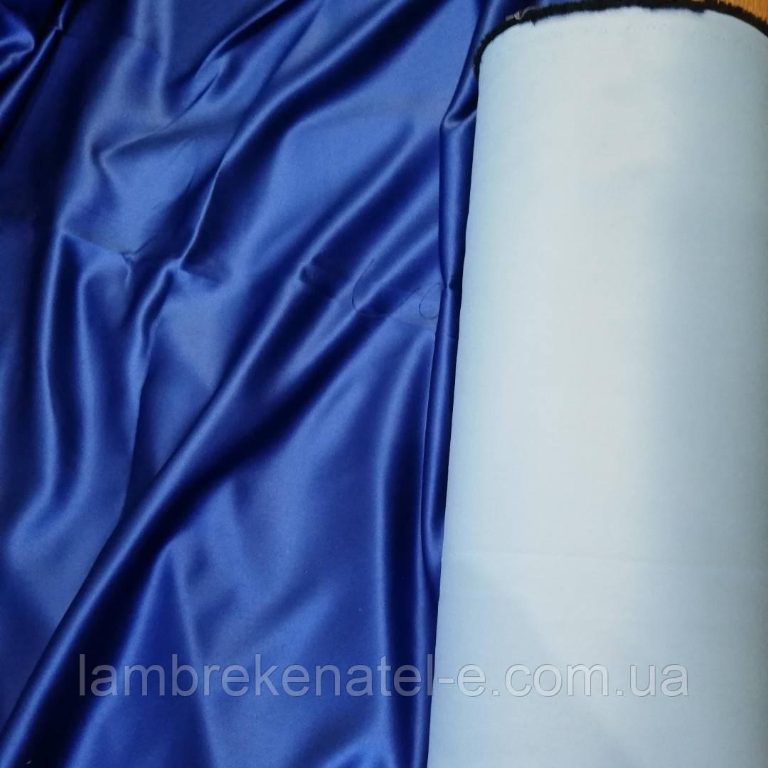 Портьерная ткань блэкаут синий для штор в зал, в спальню