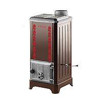 """Дровяная печь """"евро буржуйка"""" Duval EM-310 Серия ERENDEMIR. Супер компактная турбо печь с пиролизным горением"""