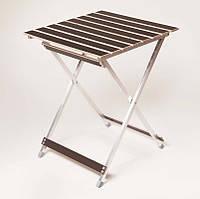 """Стол складной легкий """"Aluwood"""" малый 50х53 см. Для природы, дачи, отдыха"""