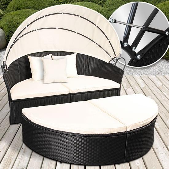 Кровать - шезлонг из ротанга