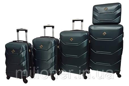 Чемодан Bonro 2019 набор 5 штук изумрудный, фото 2