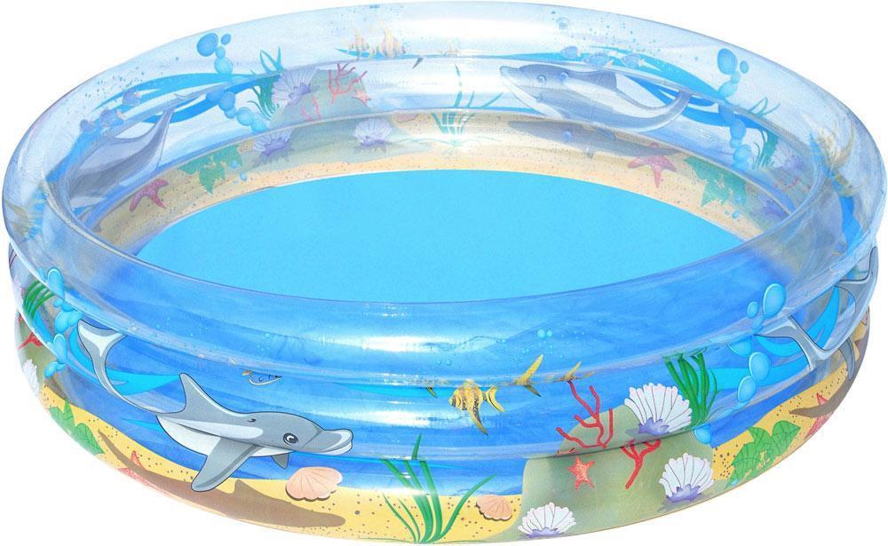 Bestway 51048 надувной бассейн детский «Морская жизнь» (170х53 см)