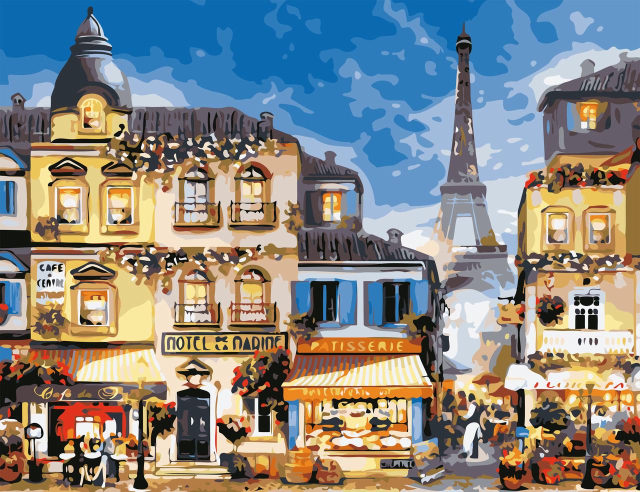 Раскраски по номерам В центре Парижа ArtStory AS0651 50 х 65 см