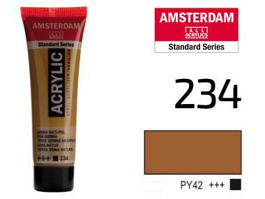 Краска акриловая AMSTERDAM 234 Сиена натуральная 20 мл Royal Talens