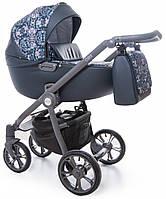 Детская коляска универсальная 2 в 1  Roan Esso Blue Sequins (Роан Эссо, Польша)