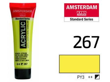 Краска акриловая AMSTERDAM 267 AZO Желтый лимонный 20 мл Royal Talens
