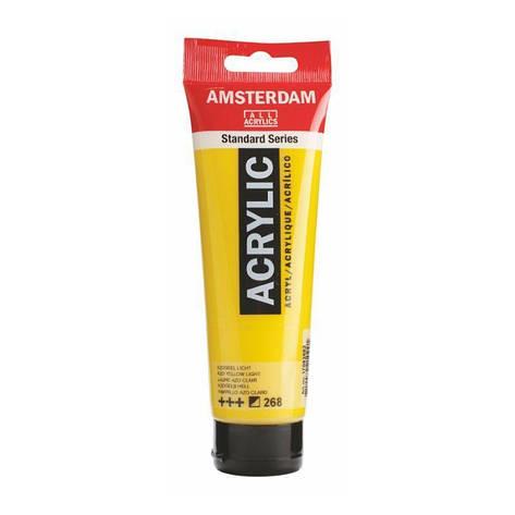 Краска акриловая AMSTERDAM 268 AZO Желтый светлый 120 мл Royal Talens, фото 2