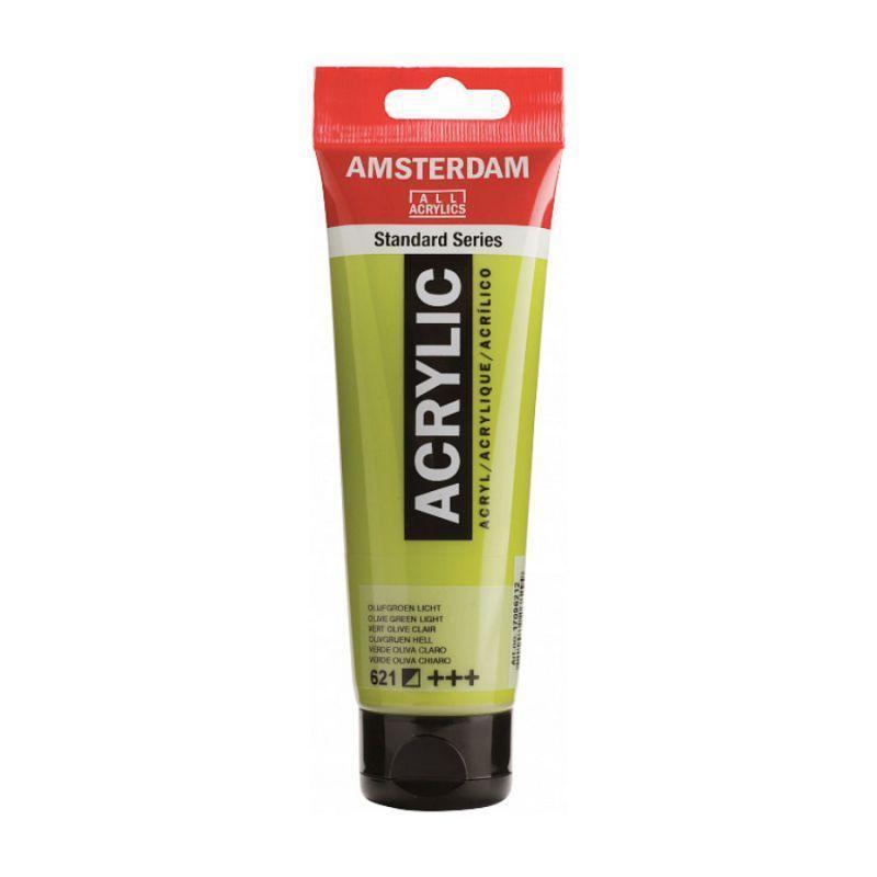 Краска акриловая AMSTERDAM 621 Оливковый зеленый светлый 120 мл Royal Talens