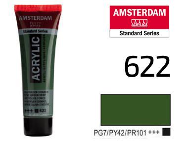 Краска акриловая AMSTERDAM 622 Оливковый зеленый темный 20 мл Royal Talens