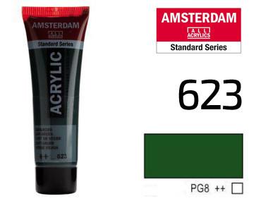 Краска акриловая AMSTERDAM 623 Сочный зеленый 20 мл Royal Talens