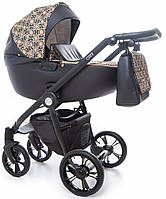 Детская коляска универсальная 2 в 1 Roan Esso Gold&Black Ornaments (Роан Эссо, Польша)