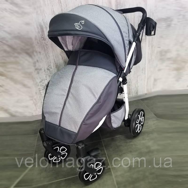 Детская прогулочная коляска DINO, серая