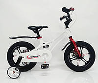 """Дитячий велосипед SIGMA MERCURY 16"""" з дисковими гальмами. Магнієва рама (Magnesium), білий, фото 1"""