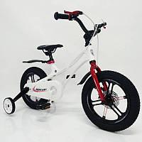 """Дитячий велосипед SIGMA MERCURY 14"""" з дисковими гальмами. Магнієва рама (Magnesium). Білий, фото 1"""