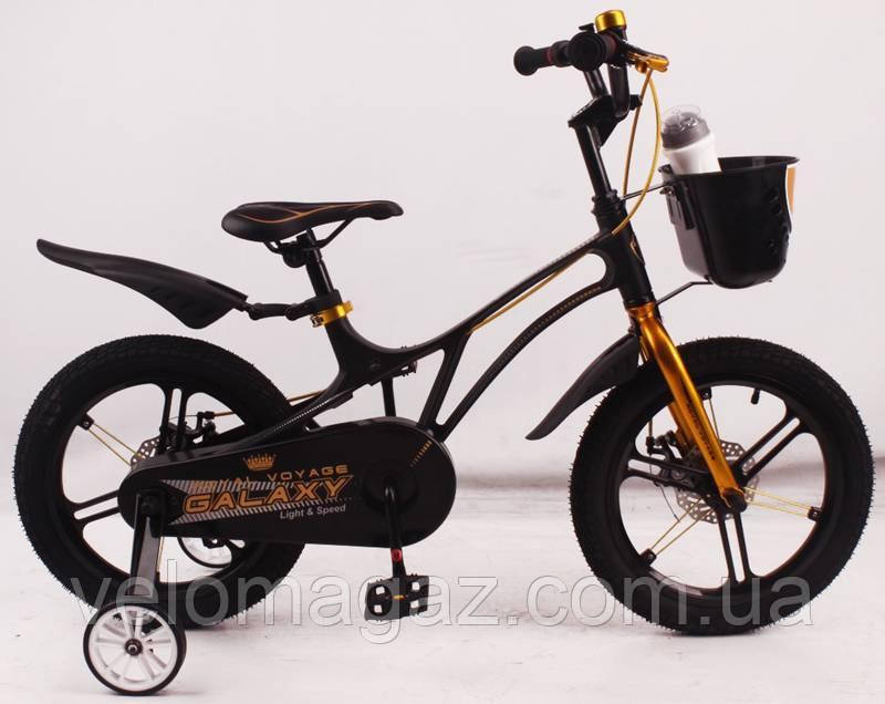 """Детский велосипед SIGMA GALAXY Black 14"""" магниевая рама (Magnesium)"""