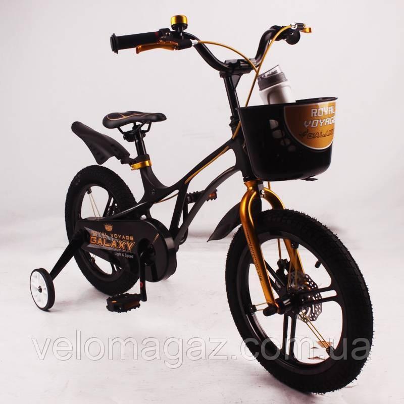 """Детский велосипед SIGMA GALAXY Black 18"""" магниевая рама (Magnesium)"""
