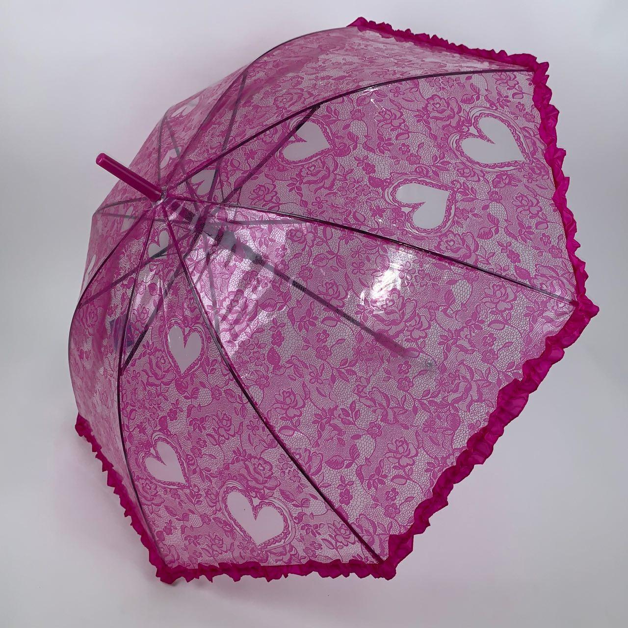 Детский зонтик-трость SL, малиновый цвет, 18102-5